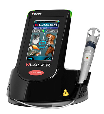K-Laser Cube 4 model Class IV therapeutic laser for veterinary practices